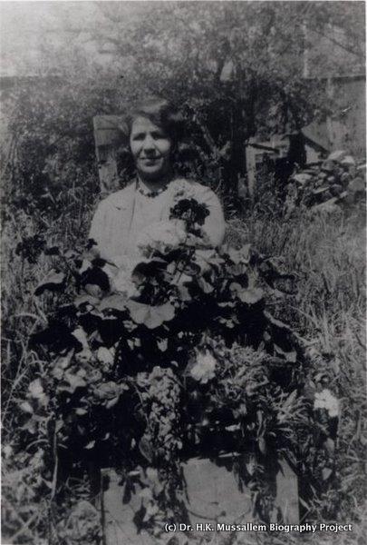 Annie Mussallem in the garden.