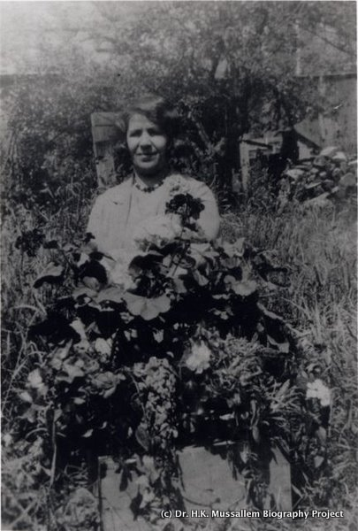 Annie Mussallem in the garden.