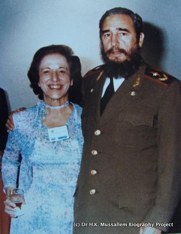 Dr. Helen K. Mussallem with Fidel Castro, 1983