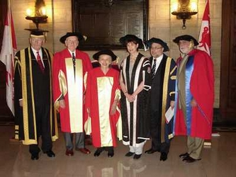 With the McGill deans of health faculty and other recipients