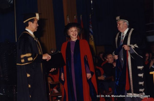 Honorary Doctorate, University of B.C., 1994